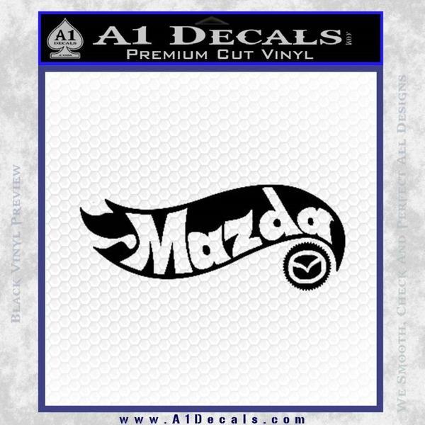 Hot Wheels Mazda D1 Decal Sticker Black Vinyl Black