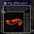 Hot Wheels Mazda D1 Decal Sticker Orange Emblem Black 120x120