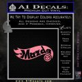 Hot Wheels Mazda D1 Decal Sticker Soft Pink Emblem Black 120x120