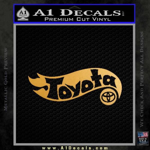Hot Wheels Toyota D1 Decal Sticker Gold Metallic Vinyl Black