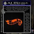 Hot Wheels Toyota D1 Decal Sticker Orange Emblem Black 120x120