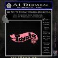 Hot Wheels Toyota D1 Decal Sticker Soft Pink Emblem Black 120x120