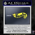 Hot Wheels Toyota D1 Decal Sticker Yellow Vinyl Black 120x120