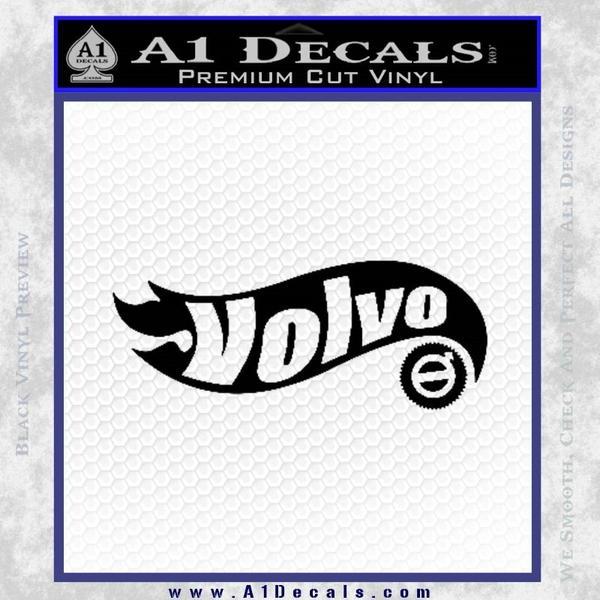 Hot Wheels Volvo D1 Decal Sticker Black Vinyl Black