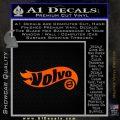 Hot Wheels Volvo D1 Decal Sticker Orange Emblem Black 120x120