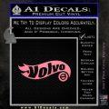 Hot Wheels Volvo D1 Decal Sticker Soft Pink Emblem Black 120x120