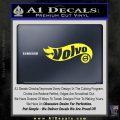 Hot Wheels Volvo D1 Decal Sticker Yellow Vinyl Black 120x120