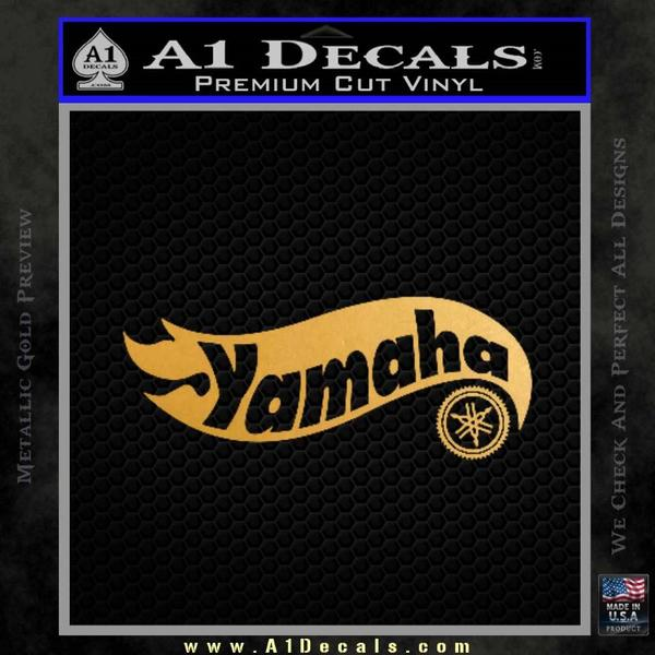 Hot Wheels Yamaha D1 Decal Sticker Gold Metallic Vinyl Black