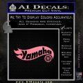 Hot Wheels Yamaha D1 Decal Sticker Soft Pink Emblem Black 120x120