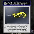 Hot Wheels Yamaha D1 Decal Sticker Yellow Vinyl Black 120x120