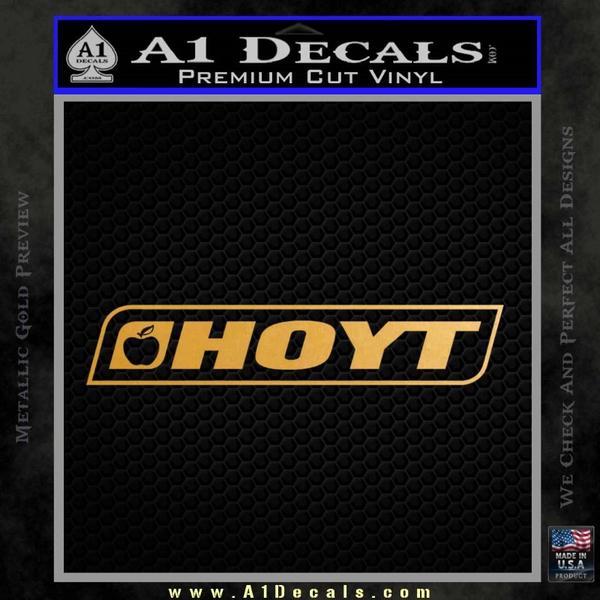 Hoyt Decal Sticker V2 Gold Metallic Vinyl Black
