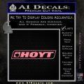 Hoyt Decal Sticker V2 Soft Pink Emblem Black 120x120