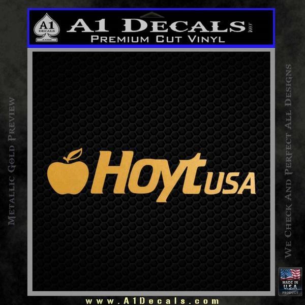 Hoyt Decal Sticker V3 Gold Metallic Vinyl Black