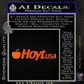 Hoyt Decal Sticker V3 Orange Emblem Black 120x120
