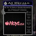 Hoyt Decal Sticker V3 Soft Pink Emblem Black 120x120