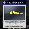 Hoyt Decal Sticker V3 Yellow Vinyl Black 120x120