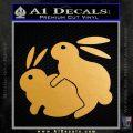 Humping Bunnies Funny Decal Sticker Gold Metallic Vinyl Black 120x120