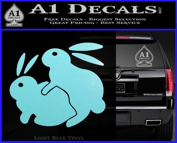 ... Humping Bunnies Funny Decal Sticker Light Blue Vinyl Black 120x97 ...  sc 1 st  A1 Decals & Humping Bunnies Funny Decal Sticker » A1 Decals