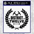 Hunger Games Decal Sticker Black District 12 Vinyl Black 120x120