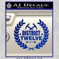 Hunger Games Decal Sticker District 12 Blue Vinyl Black 120x120