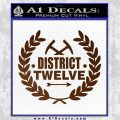 Hunger Games Decal Sticker District 12 Brown Vinyl Black 120x120