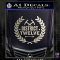 Hunger Games Decal Sticker District 12 Metallic Silver Vinyl Black 120x120