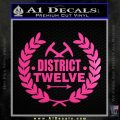 Hunger Games Decal Sticker District 12 Neon Pink Vinyl Black 120x120