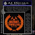Hunger Games Decal Sticker District 12 Orange Emblem Black 120x120