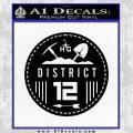 Hunger Games District 12 Circle New Decal Sticker Black Vinyl Black 120x120