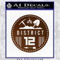 Hunger Games District 12 Circle New Decal Sticker Brown Vinyl Black 120x120