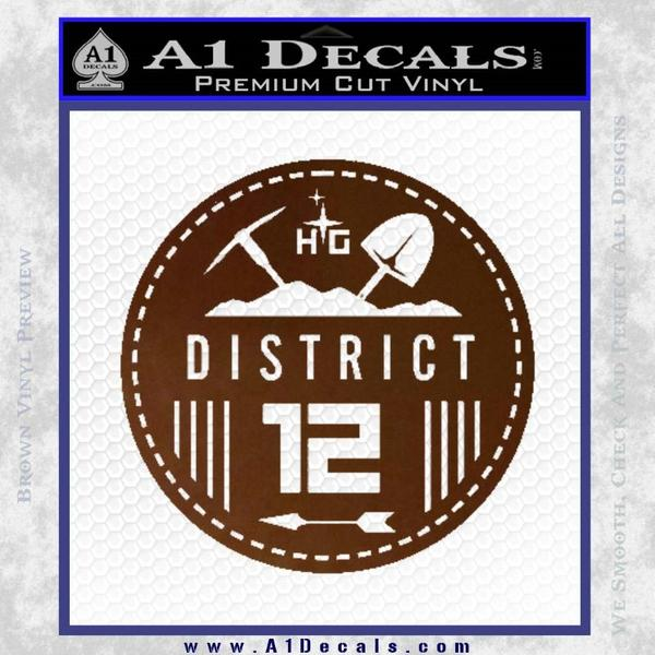 Hunger Games District 12 Circle New Decal Sticker A1 Decals