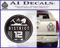Hunger Games District 12 Circle New Decal Sticker CFB Vinyl Black 120x97