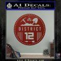 Hunger Games District 12 Circle New Decal Sticker DRD Vinyl Black 120x120
