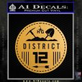 Hunger Games District 12 Circle New Decal Sticker Gold Metallic Vinyl Black 120x120