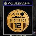 Hunger Games District 12 Circle New Decal Sticker Gold Metallic Vinyl Black 120x120