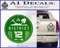 Hunger Games District 12 Circle New Decal Sticker Green Vinyl Black 120x97