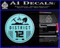 Hunger Games District 12 Circle New Decal Sticker Light Blue Vinyl Black 120x97