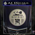 Hunger Games District 12 Circle New Decal Sticker Metallic Silver Vinyl Black 120x120