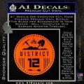 Hunger Games District 12 Circle New Decal Sticker Orange Emblem Black 120x120