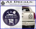 Hunger Games District 12 Circle New Decal Sticker Purple Vinyl Black 120x97