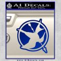 Hunger Games Down With Rebels D2 Decal Sticker Blue Vinyl Black 120x120