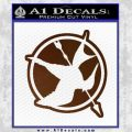 Hunger Games Down With Rebels D2 Decal Sticker Brown Vinyl Black 120x120