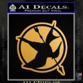Hunger Games Down With Rebels D2 Decal Sticker Gold Metallic Vinyl Black 120x120