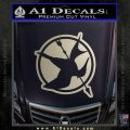 Hunger Games Down With Rebels D2 Decal Sticker Metallic Silver Vinyl Black 120x120