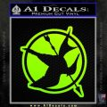 Hunger Games Down With Rebels D2 Decal Sticker Neon Green Vinyl Black 120x120