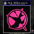 Hunger Games Down With Rebels D2 Decal Sticker Neon Pink Vinyl Black 120x120