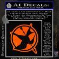 Hunger Games Down With Rebels D2 Decal Sticker Orange Emblem Black 120x120