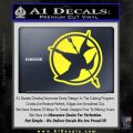 Hunger Games Down With Rebels D2 Decal Sticker Yellow Vinyl Black 120x120
