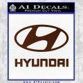 Hyundai Decal Sticker Full BROWN Vinyl 120x120