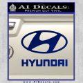 Hyundai Decal Sticker Full Blue Vinyl 120x120